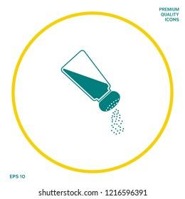 Salt or pepper shaker. Graphic elements for your design