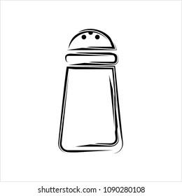 Salt Pepper Shaker Icon Vector Art Illustration