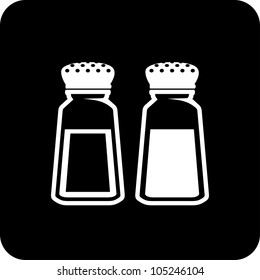 Salt and pepper - Vector icon isolated