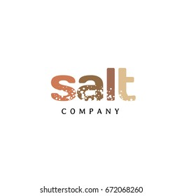 Salt Texture Word Logo