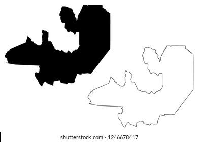 Salta (Region of Argentina, Argentine Republic, Provinces of Argentina) map vector illustration, scribble sketch Salta Province map