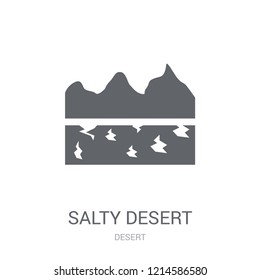 Salty desert icon. Trendy Salty desert logo concept on white background from Desert collection. Suitable for use on web apps, mobile apps and print media.
