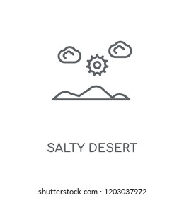 Salty desert linear icon. Salty desert concept stroke symbol design. Thin graphic elements vector illustration, outline pattern on a white background, eps 10.