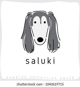 Saluki : Dog Breed Collection : Vector Illustration