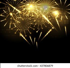 Salute celebration fireworks background