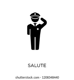 Salute icon. Salute symbol design from Army collection.