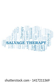Salvage Therapy word cloud. Wordcloud made with text only.