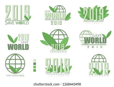 Salvage world logo, white background,Can be used in various designs