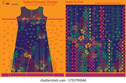 Salwar kameez artwork for ready to work