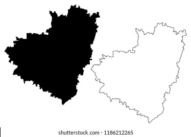 Samara Oblast (Russia, Subjects of the Russian Federation, Oblasts of Russia) map vector illustration, scribble sketch Samara Oblast map