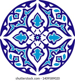 Samarkand Registan Uzbekistan tiles arabic vector ornament blue muslim mosaic ethnic ceramic decorative illustration islamic mosque pattern design