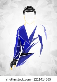 sambo, judo, athlete vector
