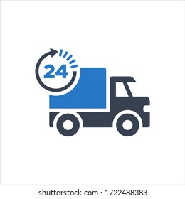 Same day delivery icon on white background
