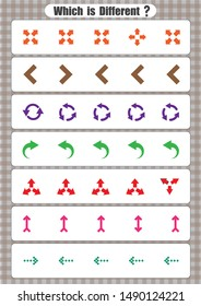 Same And Different Worksheet, sorting, Kindergarten, Opposites Worksheets For Preschool Printable, circle the picture that is different,
