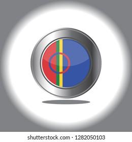 sami flag emblem vector