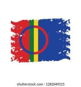 sami flag vector illustration