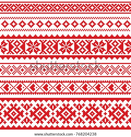 Sami Vector Seamless Pattern Lapland Folk Stock Vector Royalty Free