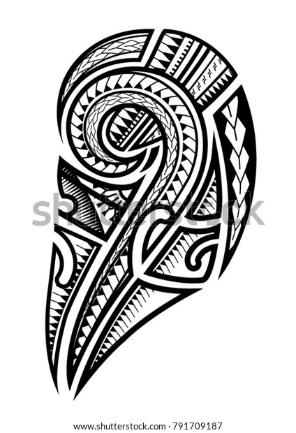 Samoan Tattoo Upper Arm Stock Vector Royalty Free 791709187