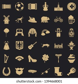 Samovar icons set. Simple style of 36 samovar vector icons for web for any design