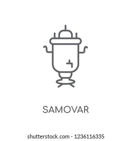 Samovar linear icon. Modern outline Samovar logo concept on white background from Culture collection. Suitable for use on web apps, mobile apps and print media.