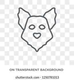 Samoyed dog icon. Trendy flat vector Samoyed dog icon on transparent background from dogs collection. High quality filled Samoyed dog symbol use for web and mobile