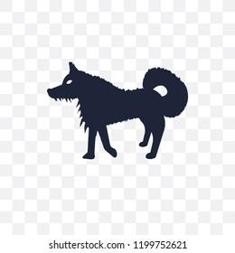 Samoyed dog transparent icon. Samoyed dog symbol design from Dogs collection. Simple element vector illustration on transparent background.
