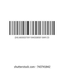 Sample Bar Code For Scanning Icon Vector Illustration