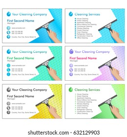 sample business cards for cleaning business - Cleaning Company Business Cards