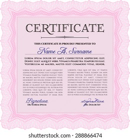 Sample Certificate. Superior design. Printer friendly. Vector illustration.