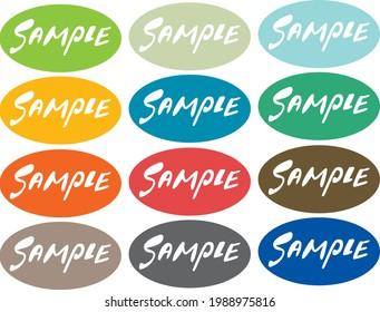 SAMPLE Character Sample Illustration Set