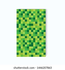 Sample of a colored pixel background on a white background. Pixel background. Minecraft icon. Flat color pixel background. Vector illustration