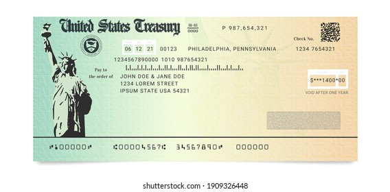 Sample of the fake US Stimulus Check