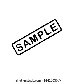 sample icon, label design template
