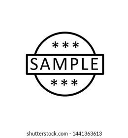 sample icon, label design template