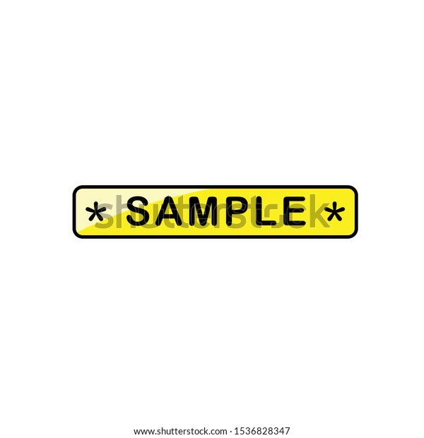 Sample Label Template from image.shutterstock.com