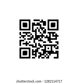 Sample qr code icon. vector illustration isolated on white background.
