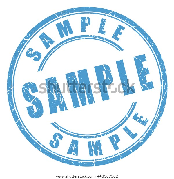 Grunge black round sample not for sale rubber stamp royalty free.