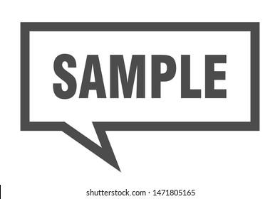 sample sign. sample square speech bubble. sample