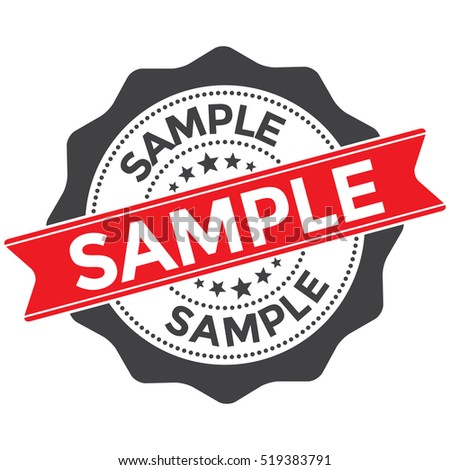 sample stamp badge red seal on stock vector royalty free 519383791
