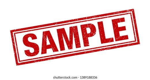 Sample Stamp Grunge Texture Vector Illustration