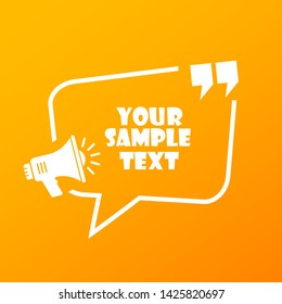 Sample text frame design vector illustration isolated on yellow background