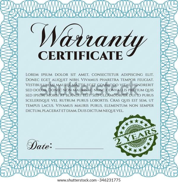 Warranty Certificate Template from image.shutterstock.com