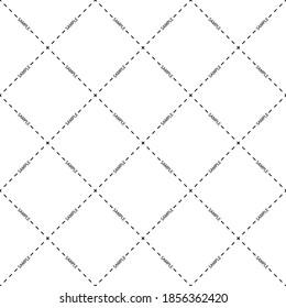 Sample watermark seamless pattern. Vector illustration