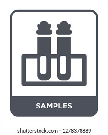 samples icon vector on white background, samples trendy filled icons from Chemistry collection, samples vector illustration