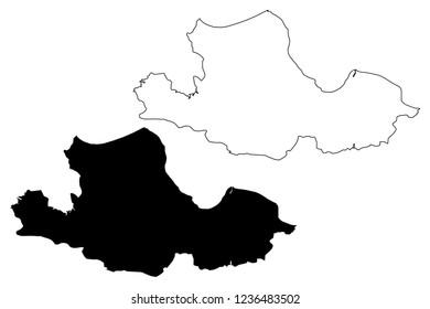 Samsun (Provinces of the Republic of Turkey) map vector illustration, scribble sketch Samsun ili map