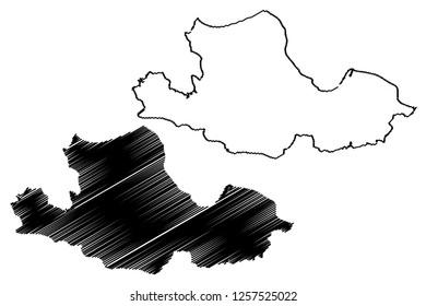 Samsun (Provinces of the Republic of Turkey) map vector illustration, scribble sketch Samsun  map