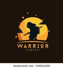 Samurai  logo design illustration vector