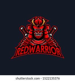 Samurai Mascot Logo for Gaming, Stream Channel or Community