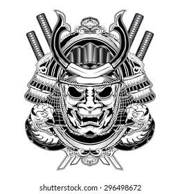 Samurai Mask and Snakes