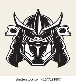 samurai mask vector illustration